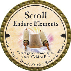 Scroll Endure Elements (C) - 2014 (Gold)