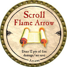 Scroll Flame Arrow - 2010 (Gold)