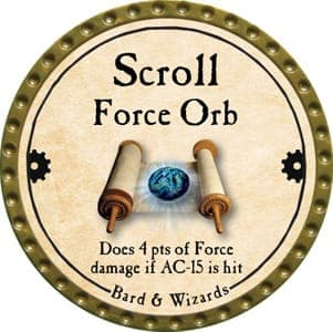 Scroll Force Orb - 2013 (Gold)