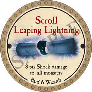 Scroll Leaping Lightning - 2017 (Gold)