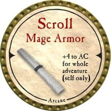Scroll Mage Armor - 2007 (Gold)