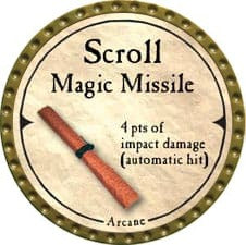Scroll Magic Missile - 2007 (Gold)