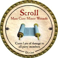Scroll Mass Cure Minor Wounds - 2009 (Gold)