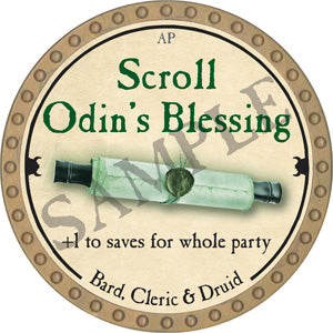 Scroll Odin's Blessing - 2018 (Gold)