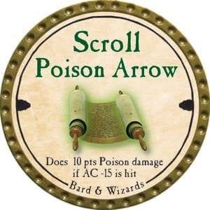 Scroll Poison Arrow - 2014 (Gold)
