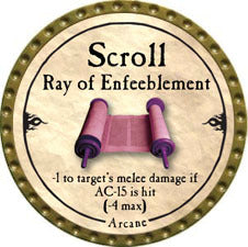 Scroll Ray of Enfeeblement - 2010 (Gold)