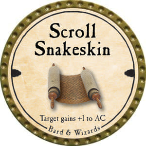 Scroll Snakeskin - 2014 (Gold)