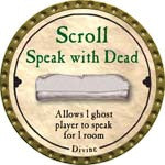 Scroll Speak with Dead - 2008 (Gold)