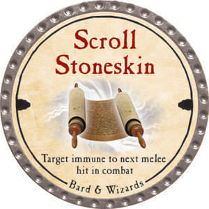 Scroll Stoneskin - 2014 (Platinum) - C37