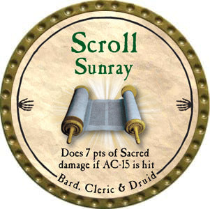 Scroll Sunray - 2012 (Gold)