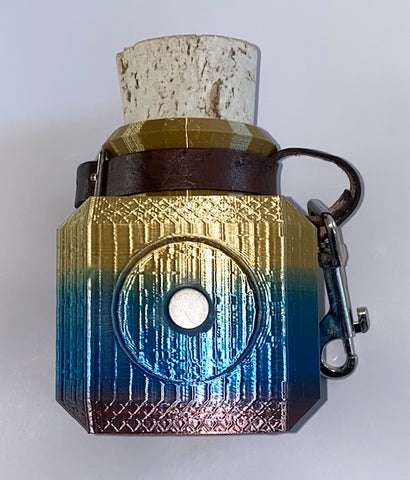 Token Potion Bottle - Small (Gold/Blue)