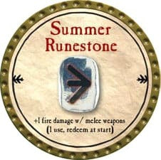 Summer Runestone - 2009 (Gold)