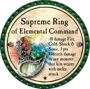 Supreme Ring of Elemental Command - 2012 (Green) - C53