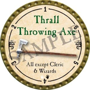 Thrall Throwing Axe - 2016 (Gold)