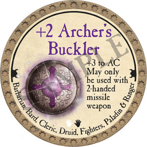 +2 Archer's Buckler - 2018 (Gold) - C25