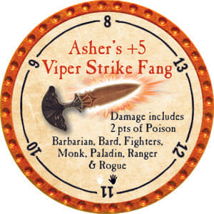 Asher's +5 Viper Strike Fang - 2014 (Orange) - C25
