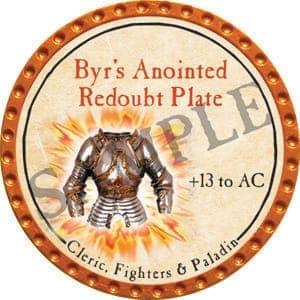 Byr's Anointed Redoubt Plate - 2016 (Orange) - C25