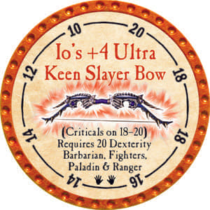 Io's +4 Ultra Keen Slayer Bow - 2014 (Orange) - C25