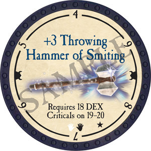 +3 Throwing Hammer of Smiting - 2018 (Blue) - C29