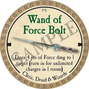 Wand of Force Bolt - 2020 (Gold)