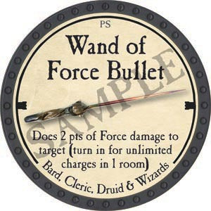 Wand of Force Bullet - 2020 (Onyx) - C37