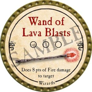 Wand of Lava Blasts - 2016 (Gold) - C37