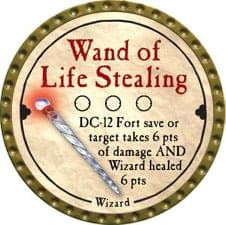 Wand of Life Stealing - 2008 (Gold) - C37