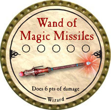Wand of Magic Missiles - 2010 (Gold) - C37
