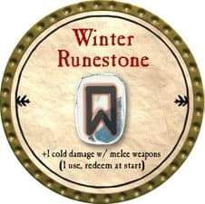 Winter Runestone - 2009 (Gold)