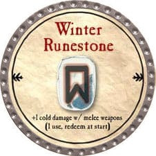 Winter Runestone - 2009 (Platinum)