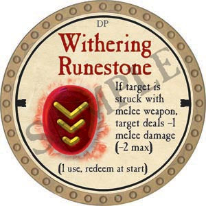 Withering Runestone - 2020 (Gold)