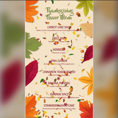 THANKSGIVING FLAVORS - Last Call 4 Cupcakes  THANKSGIVING FLAVORS-alcohol infused cupcakes -cupcakes - boozy cupcakesy