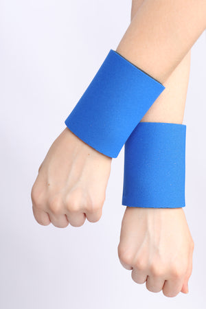 Royal/Sky Blue Reversible Neoprene Wristbands