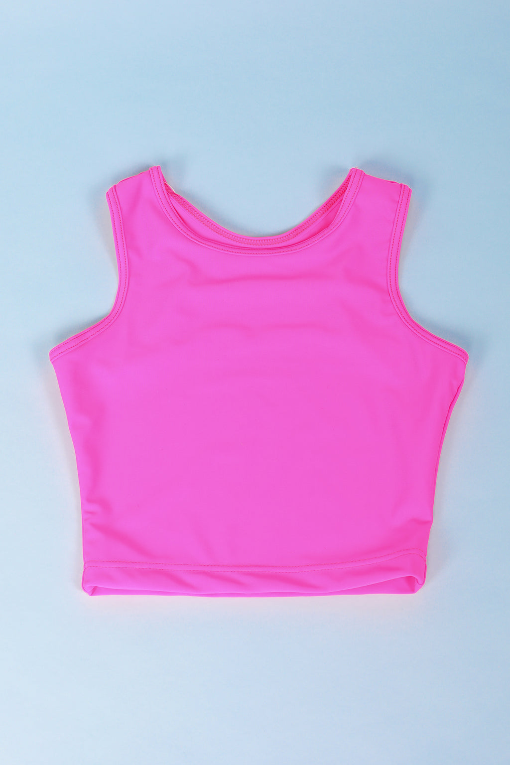 Hot Pink Lycra Crop Top