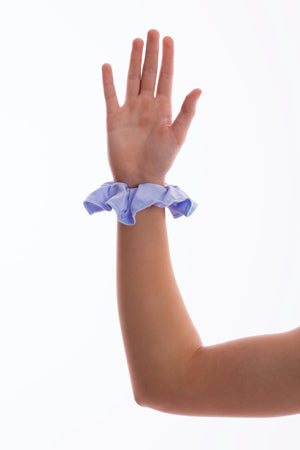 Light Blue Lycra Scrunchie