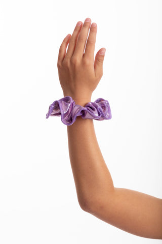 Magenta Holographic Mystique Scrunchie