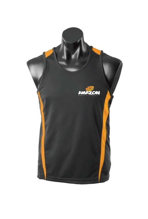 Amazon Black & Gold Singlet