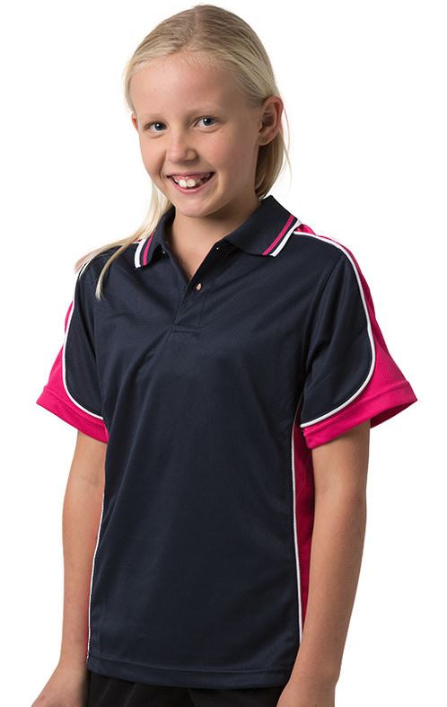 BSP16K Kids polo shirt - Navy/Pink white - SALE