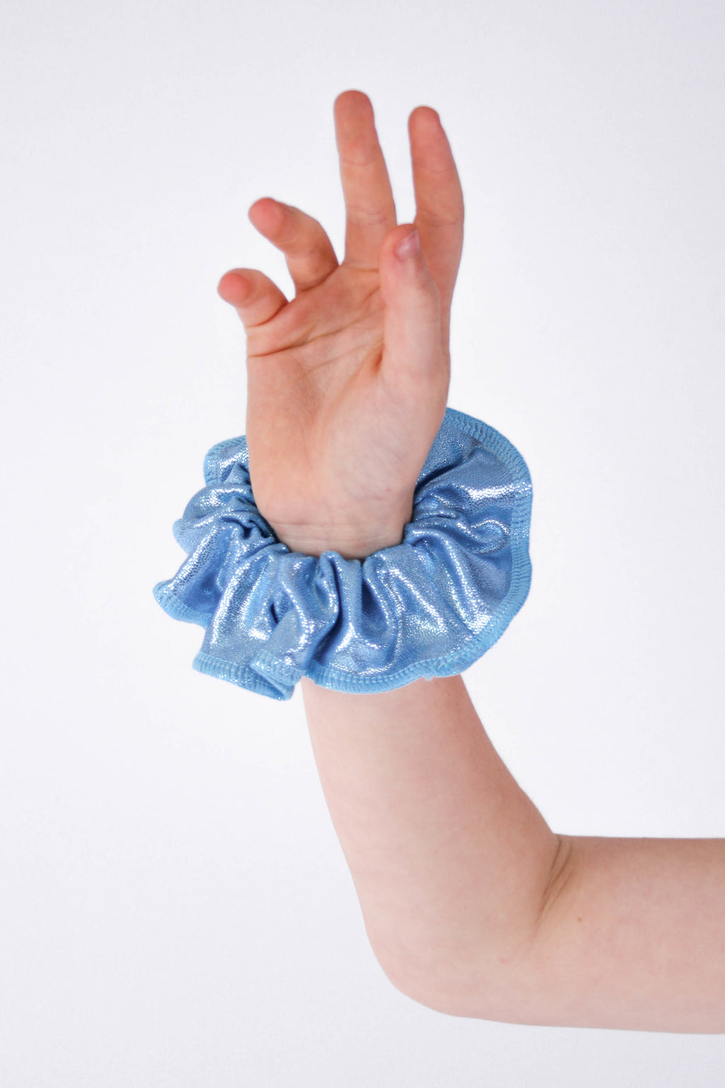 Baby Blue Mystique Scrunchie