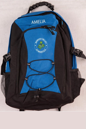 Barron Valley Gymnastics Club back Pack