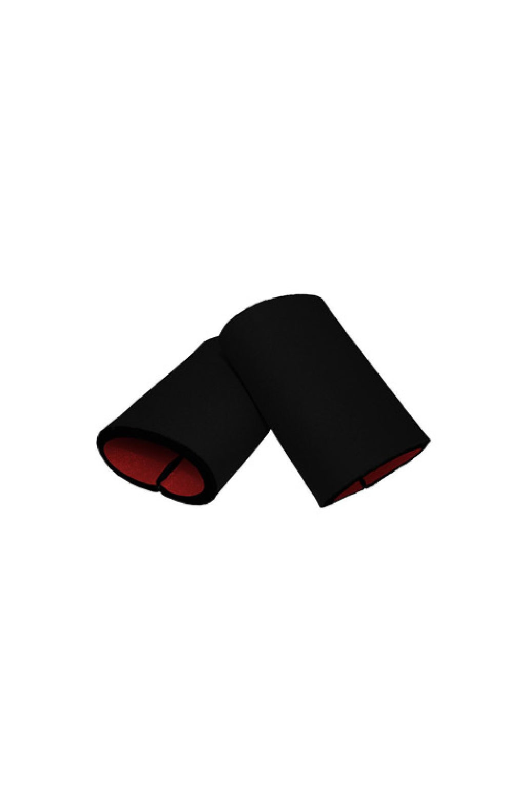 Black/ Red Reversible Neoprene Wristbands