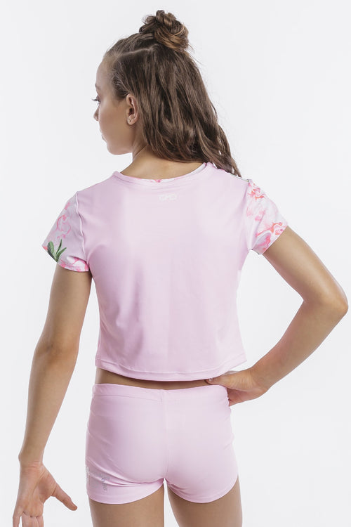Blushing Bubblegum Cropped Tee