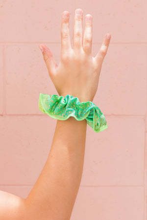 Lime Gold Fleck Scrunchie