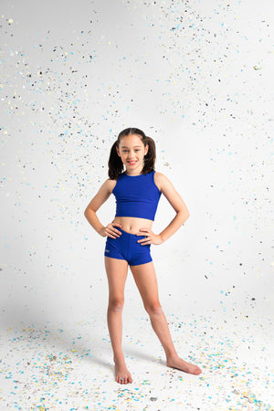 GMD Activewear Australia Empire Gymnastics Royal Blue Crop Top