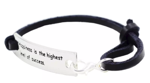 Inspirational Bracelet - Happiness Is The Highest Level Of Sucess