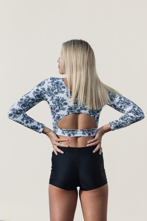 Enchanted Rose Long Sleeve Crop