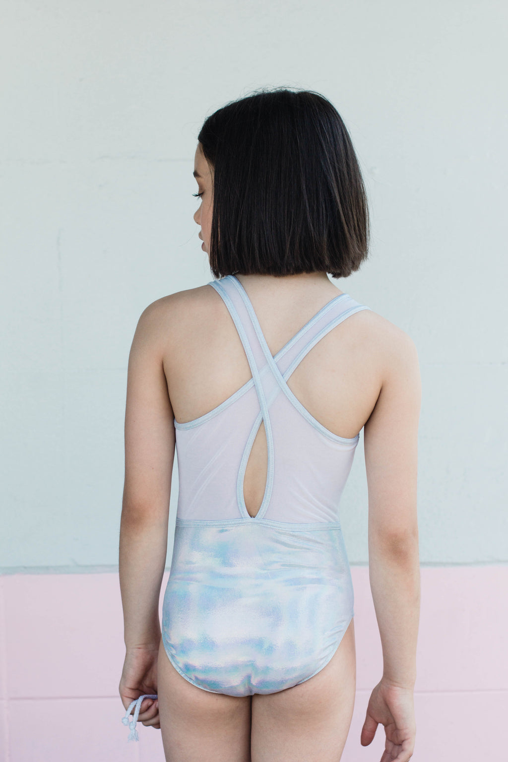 Holographic  Silver Leotard