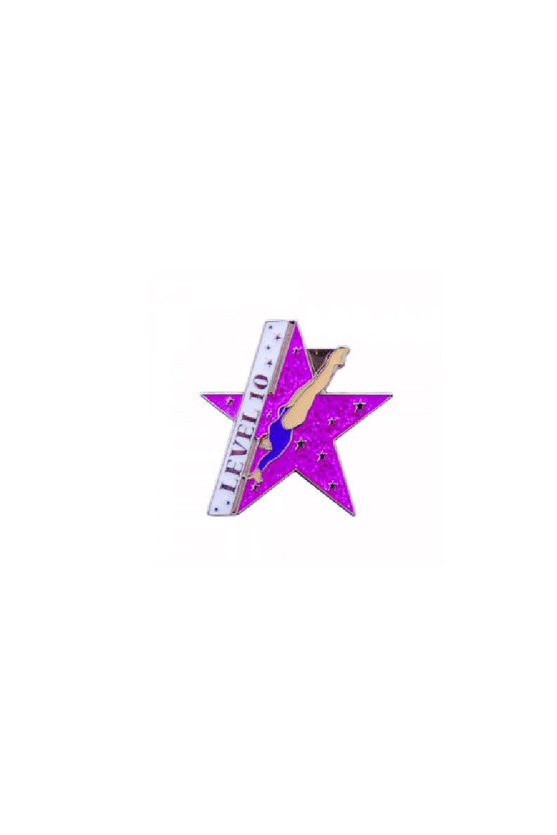Pink Star Level Pin (choose level)