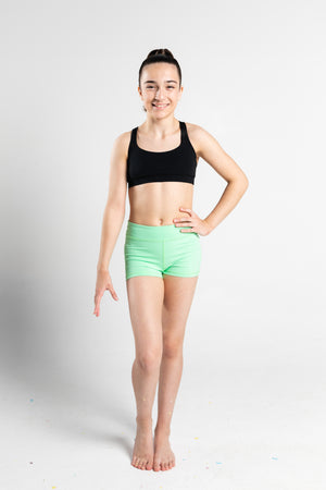 GMD Activewear Australia Lime Green Gymnastics Shorts
