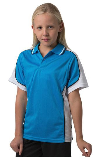 BSP16K Kids polo shirt - Hawaiian Blue /White/Black - SALE